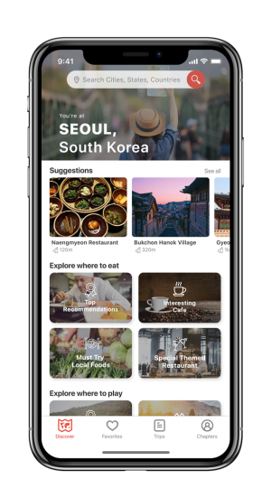 Discover food and places in Traple App